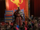 The King talks with school children