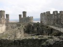 ruins of Conwy Castle in Wales
