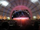 The Rockettes  begin in the 6,000 person auditorium