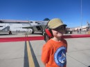 Parker at the Air Nation Show at Nellis Air Force Base outside of Las Vegas