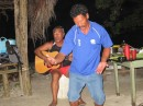 Charlie dances and Harry plays the guitar for us.  Influenced by Maori