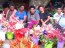 "These Fijian women love their flowers.  They say ""Bula"""