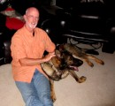 Bob and the German Shepherd Mac