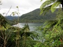 "Green Lake, Lake Rotokakahi.  This is sacred to the Maori.  There is no swimming, boating or fishing allowed.  ""Tapu"""