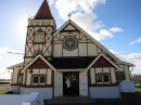In the Maori Village of Whakarewarewa, Faith Anglican Church.  Sunday services are in Maori