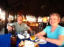 Mary Beth and Keith arrive to La Paz.  We eat at Rancho Viejo