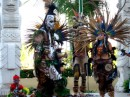 Aztec dancers at the opening of the Banderas Bay Regatta