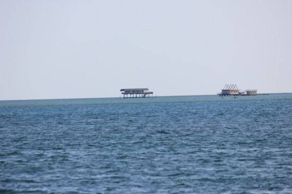 A close up (well as close as I could get with my zoom lense) to a fishing shack on Biscayne Bay.