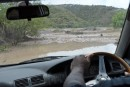 Our fearless taxi driver took us to this Lahar and ended up damaging his steering because he drove through a flooded road