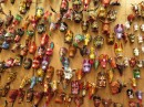 Colourful carvings for sale.
