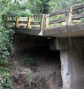 This bridge was seriously damaged in a washout a few weeks ago