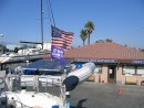 IMG_6038: THIRD DAY sits in Ventura Harboar Boat yard proudly flying the 2007 Baja Ha ha Burgie