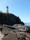 Battle Island light house, from the secluded harbor, up a half mile walk to this beautiful lighthouse.