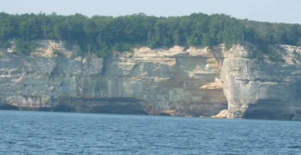 Pictured Rocks of the south shore, Michigan