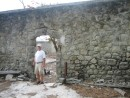 Ok, an old fort in Le Saintes with an old guy stsanding the doorway,  It