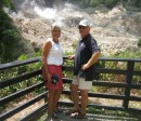 Now we made it to the only drive-in volcano in the Caribbean.  These sulpur springs haevn