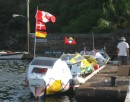 More of the same very small dinghies that were raced from the Canaries to Antigua, I say raced by rowing!!