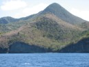 The south west coast of martinique, pretty arid and hilly, these are the remanants of volcanos of long ago.