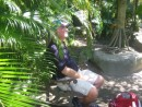 The ole captain of the sea resting in a Botanical garden, a beautiful rainforest of unbelievable species.