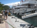 The rich and the famous a view down the dock at St. Barts, if your boat is only a 100 feet long don