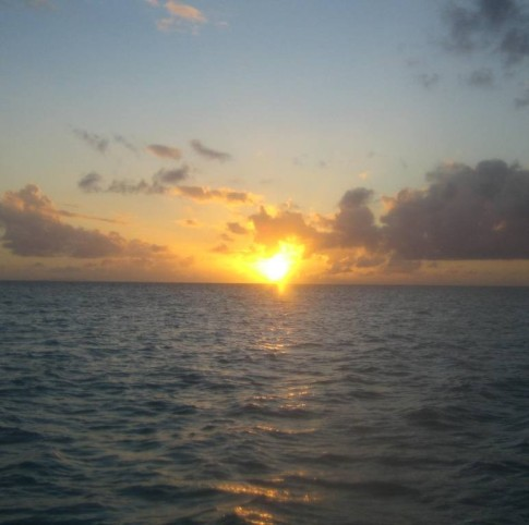Laura shot this view of the sunset while we were anchored at Anegada.  She was hoping to catch that elusive Green Flash