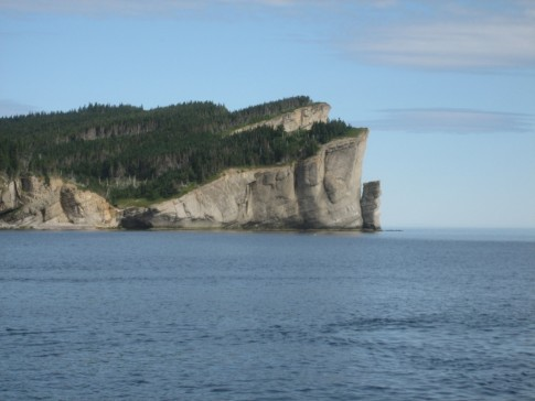 Cap Gaspe and her magnificant clifts after we passed and turned into Gaspe Bay