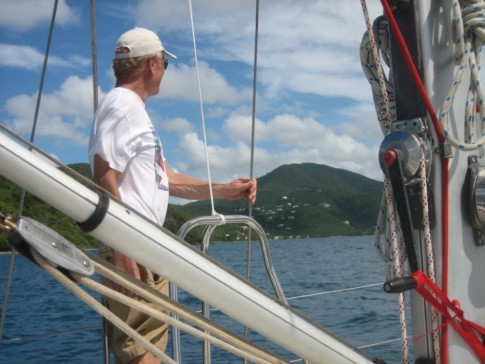 Heading for Nayy Cay, Randy is our look out, are we there yet Randy??
