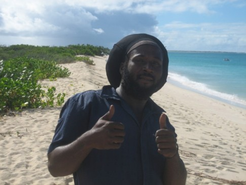 Hey Solomon, thanks for a great ride to the Frigate colony, we almost skipped the rain.  If you sail to Low Bay Barbuda, you will find Solomon and his sidekick walking the beach encouraging you to take his water taxi to Cordington or to see the birds, Thanks Solomon
