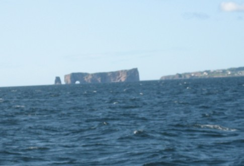 There it is the most famous rock in the maritimes about 12 miles to the south as we leave Gaspe