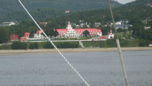 Tadoussac Hotel from the river, we