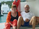 Phil and Ruth Relax at Hamilton Island.