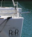 Boat did not come equipped with bow sprit this one manufactured and installed by All-spars Brisbane.