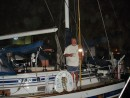 Our Sea Era 00013: Glen and Sally on their boat saying last goodbye @4:00 am