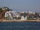 Condos, hotels, private homes, marina on the Las Hadas side of Manzanillo.