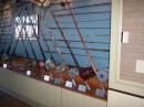 This antique fishing rod collection was in the bar at the marina where we stayed.