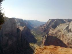The canyon from the rim