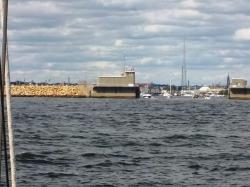 The hurricane barrier coming into New Bedford