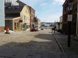 Old buildings and cobblestone streets