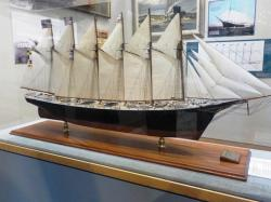 Model of the ship, the largest wooden schooner ever built