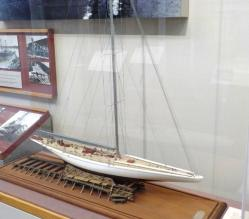 Model of the J boat Ranger, She never lost a race: She was built at Bath Iron Works
