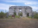 The Armbrister plantation house, burned during a slave revolt in the 1700