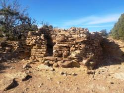 This is the remains of a dwelling at the top of Aztec Butte
