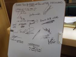 Signatures of the creators of this work of art