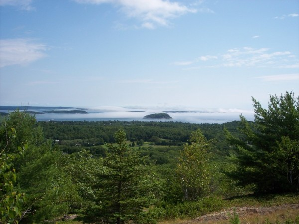 The Porcipine Islands with fog coming in