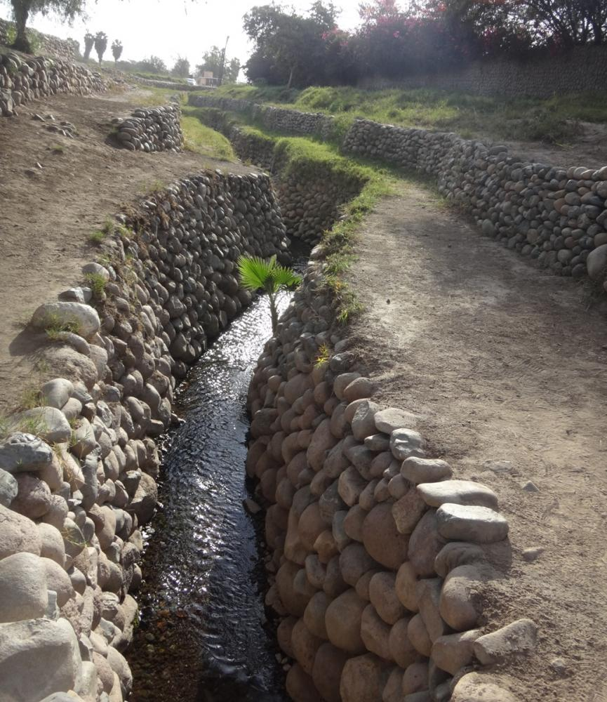 Aqueducts: This water is flowing out of the ground in the desert