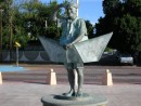 La Paz sculpture - Old Man in a Paper Boat
