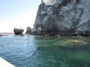 Snorkeling around Roca Solitaria.