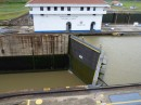 One set  of gates in Miriflores locks, each 2 feet thick