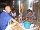 Our friends held a kava ceremony and dinner for us the evening we left.  A dozen or so villagers came to say farewell.