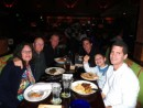 Our 2 sons and grandson on the right at a birthday dinner for Michael (in th back)